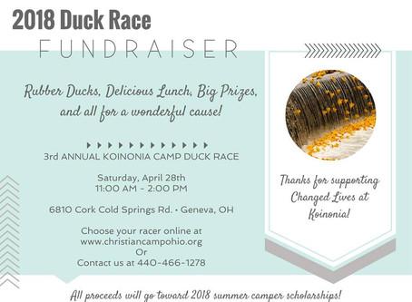 2018 Duck Race Fundraiser