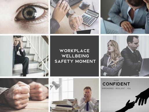 Workplace Wellbeing Safety Moment