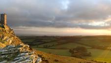 Brentor Winter Sunset