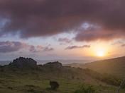 Great Tor Rocks at Sunrise