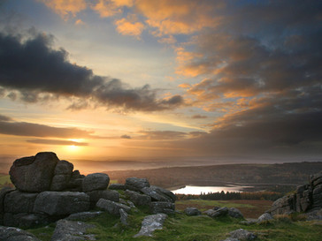 Sheepstor sunset