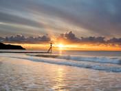 Exmouth Beach at Sunrise