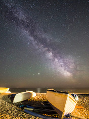 Boats at night