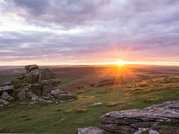 Last Light at Hookney Tor