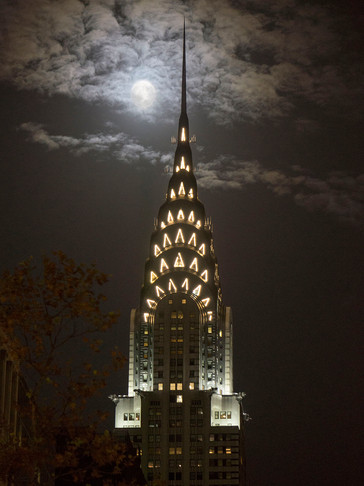 Chrysler Building Moonlight