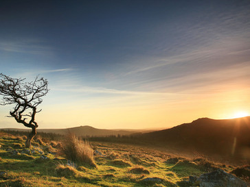 Sunset near Black Tor
