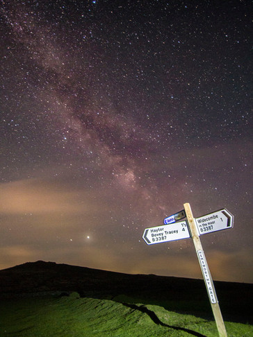 Milky Way over Hemsworthy Gate