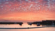 Lyme Regis Sunrise Red Skies