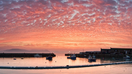 Lyme Regis Sunrise Red Skies
