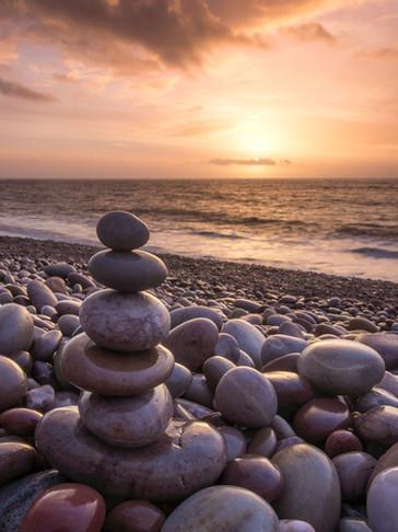 Pebbles at Sunrise