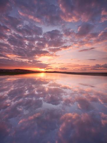 Exe Sunset Reflection