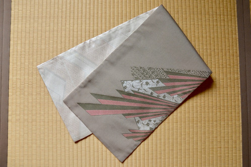 Table Runner Reversible, Obi Fabric | Japanese Vintage Kimono | Warabi Japan