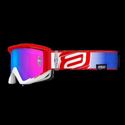 Óculos Asw A3 Fight Branco/Vermelho