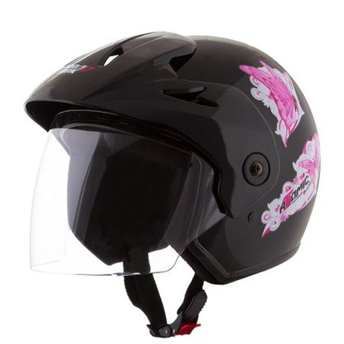 Capacete Tork Atomic For Girls Preto