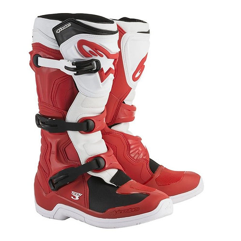 Bota Alpinestars Tech-3 Branca/Vermelha