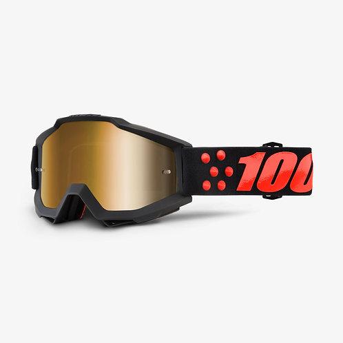 Óculos 100% Accuri Preto/Vermelho
