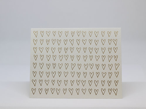 Gold Foil Hearts Card