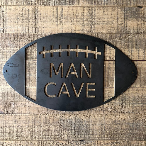 Football Man Cave Sign