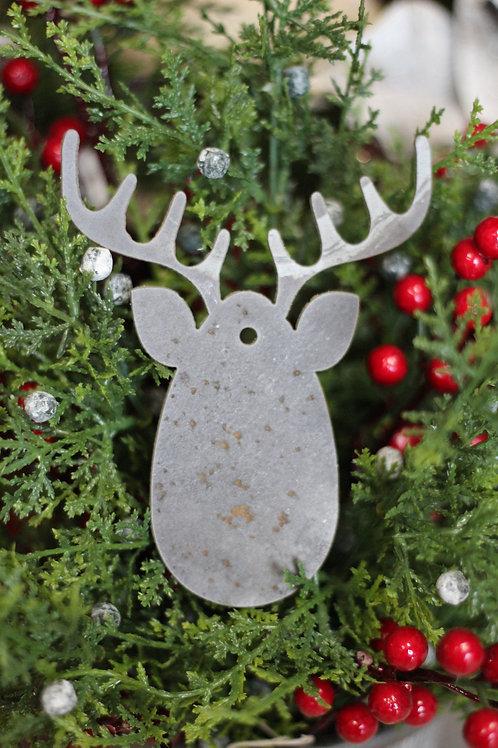 Reindeer Face Christmas Ornament
