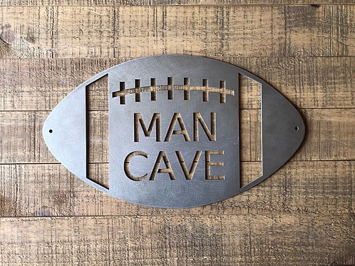 Football Man Cave Sign- Cold Rolled