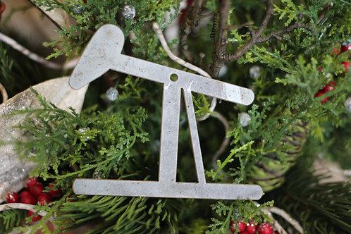 Pump Jack Christmas Ornament
