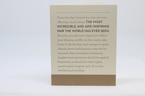 In Other Words... Wedding Card