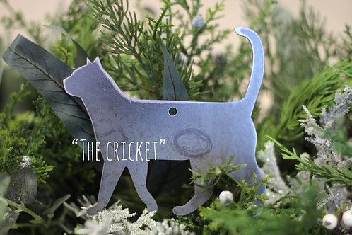 Walking Cat Christmas Ornament
