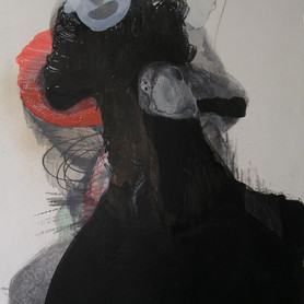 Untitled (Red and black), 2012