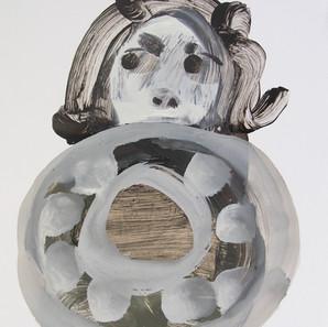 Untitled (Mad behind Circle), 2000