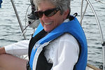 A happy senior sailing student