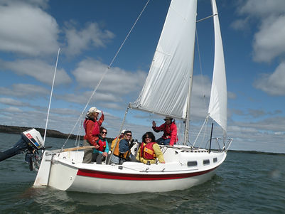 A happy sailing class