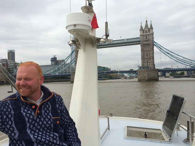 Sailing the Arnolda to London for the first time.