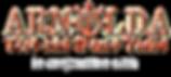 Oranje logo los voor achtergrond met in