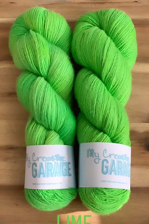 Lime - Single Ply ( Fingering weight)