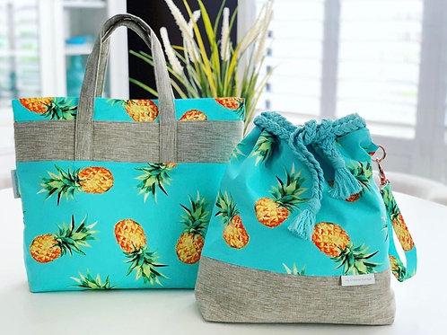 """Aloha Pineapple"" Tote Bag"