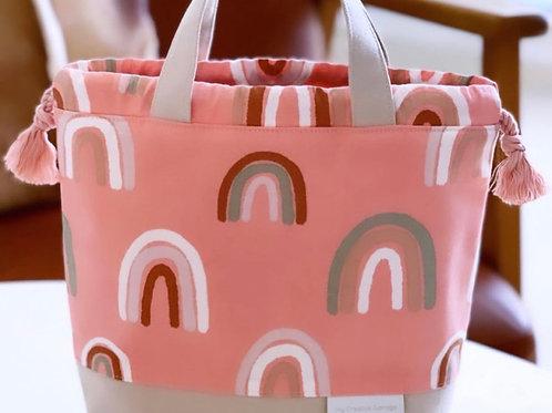 Coral Rainbow - Medium Grab & Go Bag.
