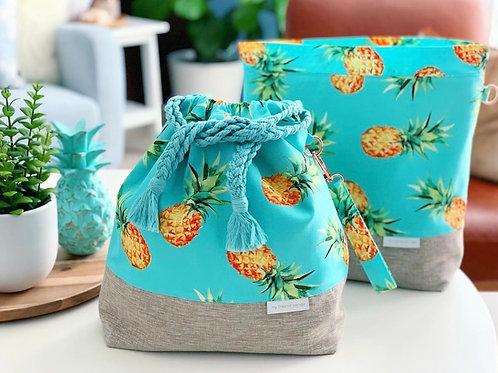 """""""Aloha Pineapple"""" Drawstring Bag"""