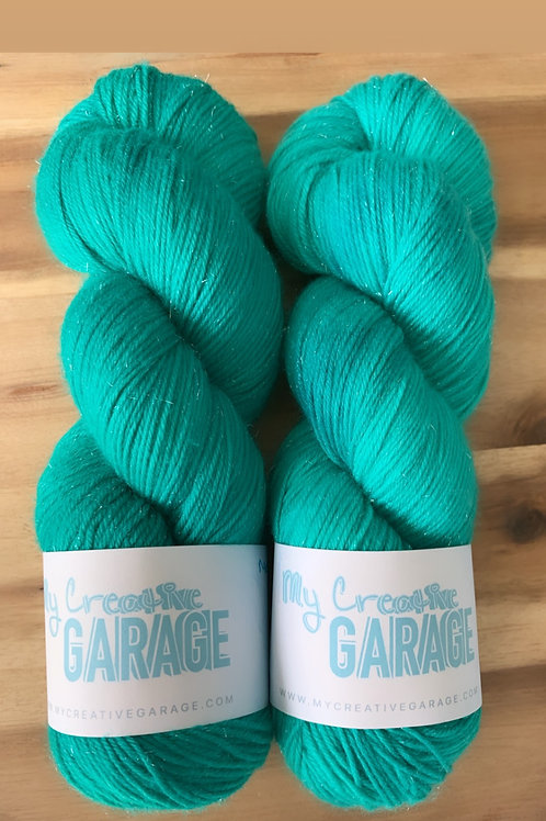 Mermaid Green - Fingering Weight (Silver Stellina)