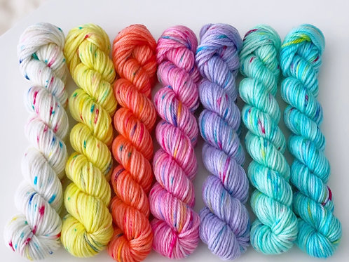 Frosting with Sprinkles Collection- Bright mini skein pack.