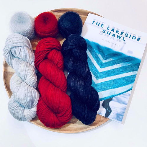 Games of Thrones Trio - The Lakeside Shawl Pattern and Yarn Kit