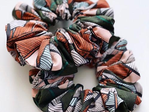 Leaf print Scrunchie - Jungle Palm
