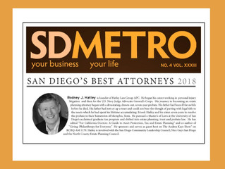 Named 2018 Best Attorney in San Diego