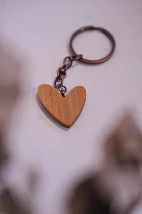 """Obesek za ključe """"Asimetrični srček"""""""