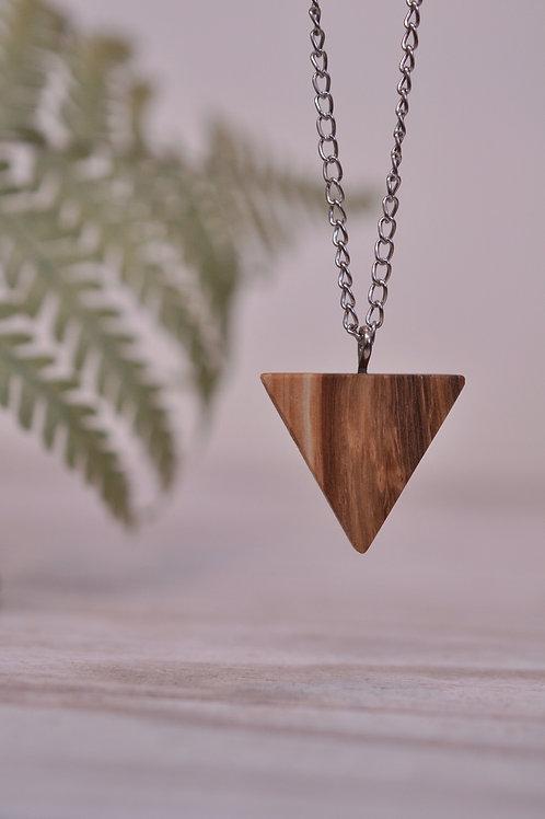 """Lesena verižica """"Mini trikotnik"""""""