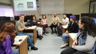 """A oficina """"Introdução ao audiovisual aplicado à Biologia"""" aconteceu na manhã de hoje (14), dando continuidade ao primeiro projeto do Núcl..."""
