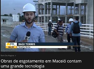 Reportagem veiculada em 12 de julho de 2019, pelo Bom Dia Alagoas, da TV Globo, sobre as obras de ampliação do sistema de esgotamento...