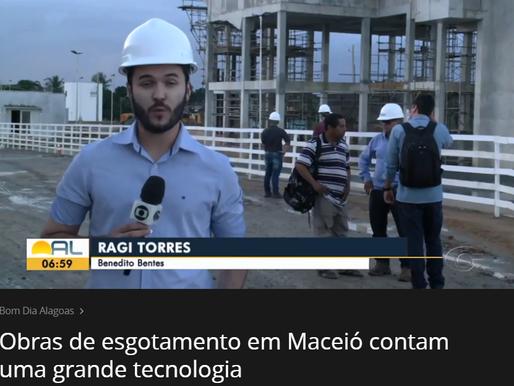 Obras de esgotamento em Maceió contam com grande tecnologia | Bom Dia Alagoas - Globoplay