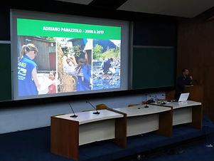 """Nesta quinta, 22, o engenheiro da STE Adriano Panazzolo apresentou a palestra """"Gestão Socioambiental em Obras de Infraestrutura"""" na 5ª..."""