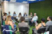 """Nesta terça-feira (1º) aconteceu mais um momento de troca e aprendizado no HUBITTAT, conhecendo mais do produto oferecido pela Ecowood, parceira no projeto """"..."""