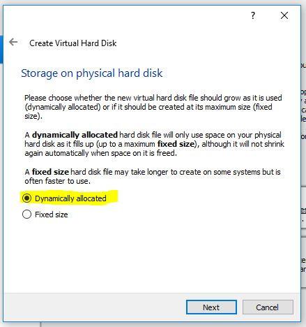 Dynamic storage hard disk